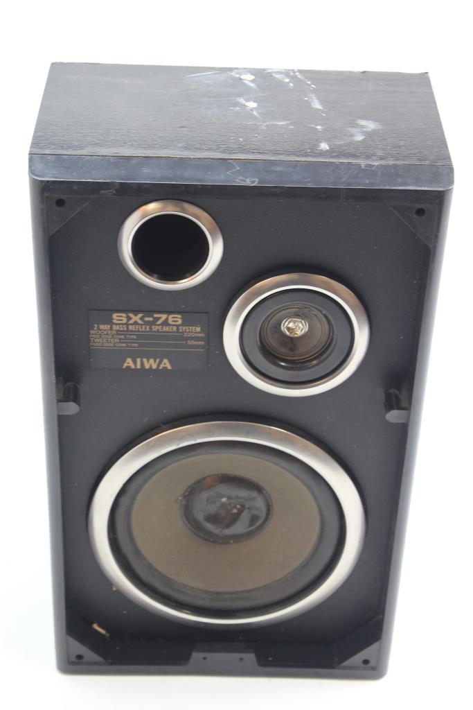 aiwa sx 76 2 way bass reflex speaker system power cords adapters rh propertyroom com aiwa speaker wire aiwa speaker wire positive and negative
