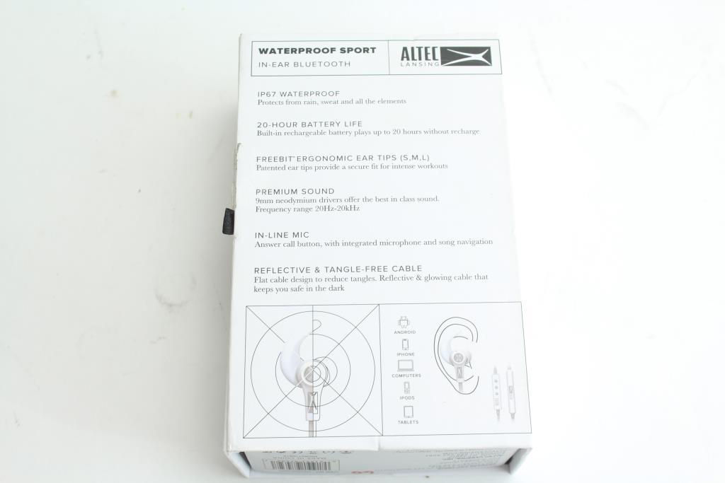 793d0cdeb36 Altec Lansing Waterproof Sport In-Ear Bluetooth Headphones ...