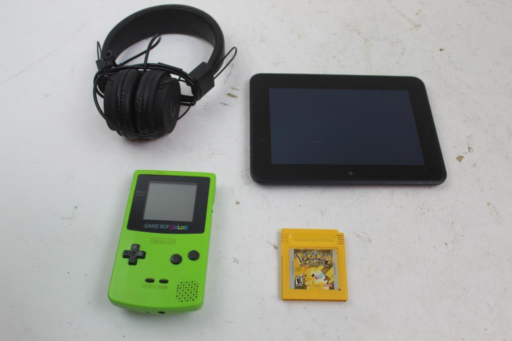 Amazon Kindle Tablet, Guess Headphones, Gameboy Color