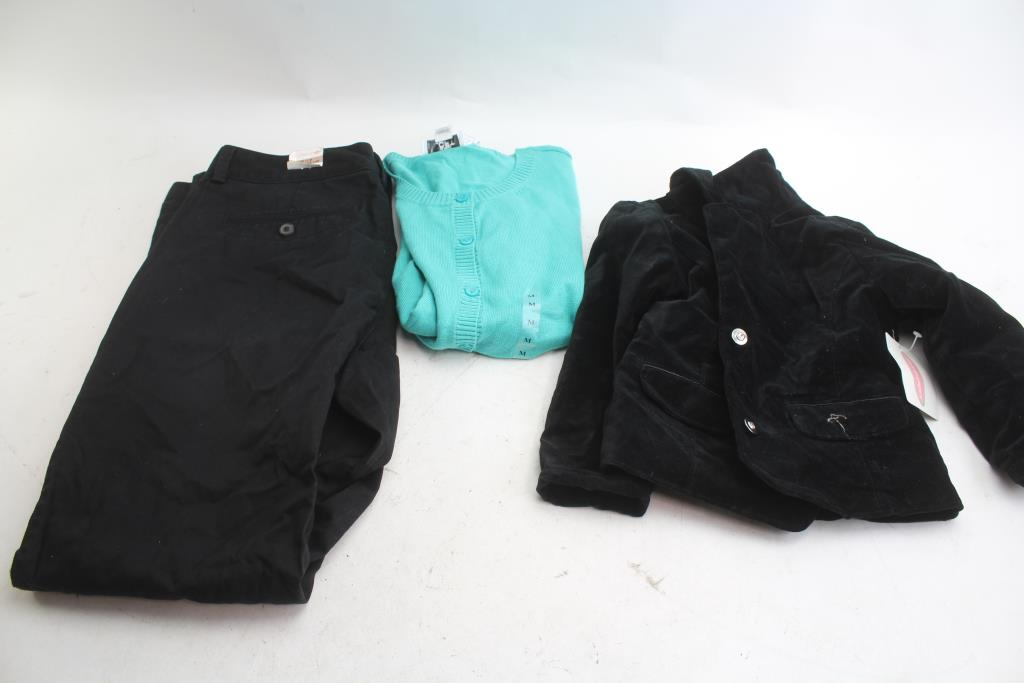 Ann Taylor Loft Sweater Dockers Pants Kids Korner Jacket 3 Pieces