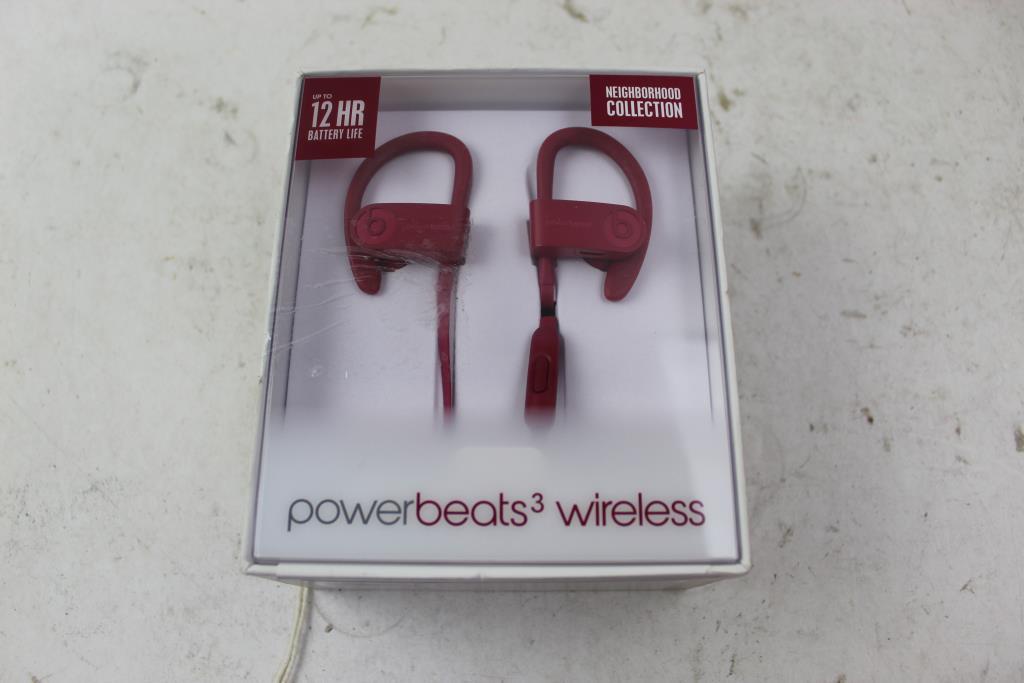 Apple Beats Powerbeats3 Wireless Earphones Brick Red Property Room