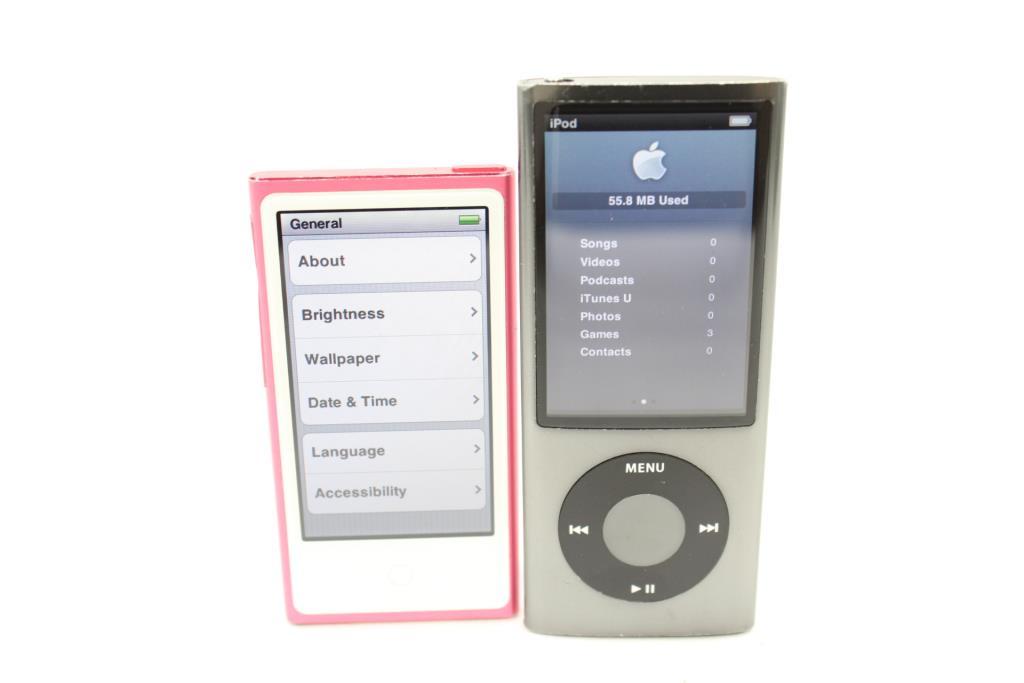 Apple Ipod Nano Lot  7th Gen Nano 16GB -A1446, And 5th Gen Nano 16GB