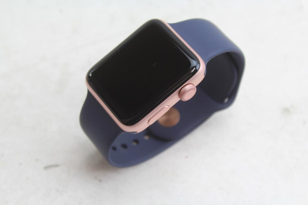 Apple watch series 2 42mm rose gold aluminum size s m account locked sold for parts for Rose gold apple watch