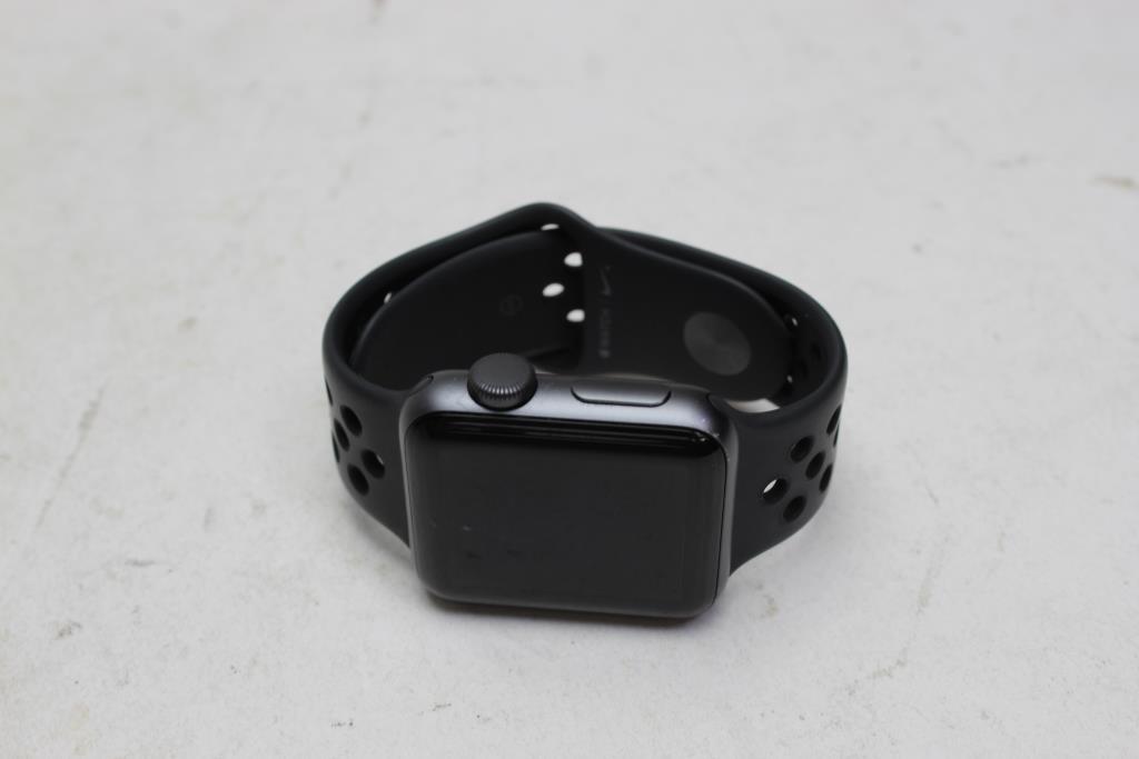 apple watch series 3 nike plus gps 38mm aluminum black. Black Bedroom Furniture Sets. Home Design Ideas