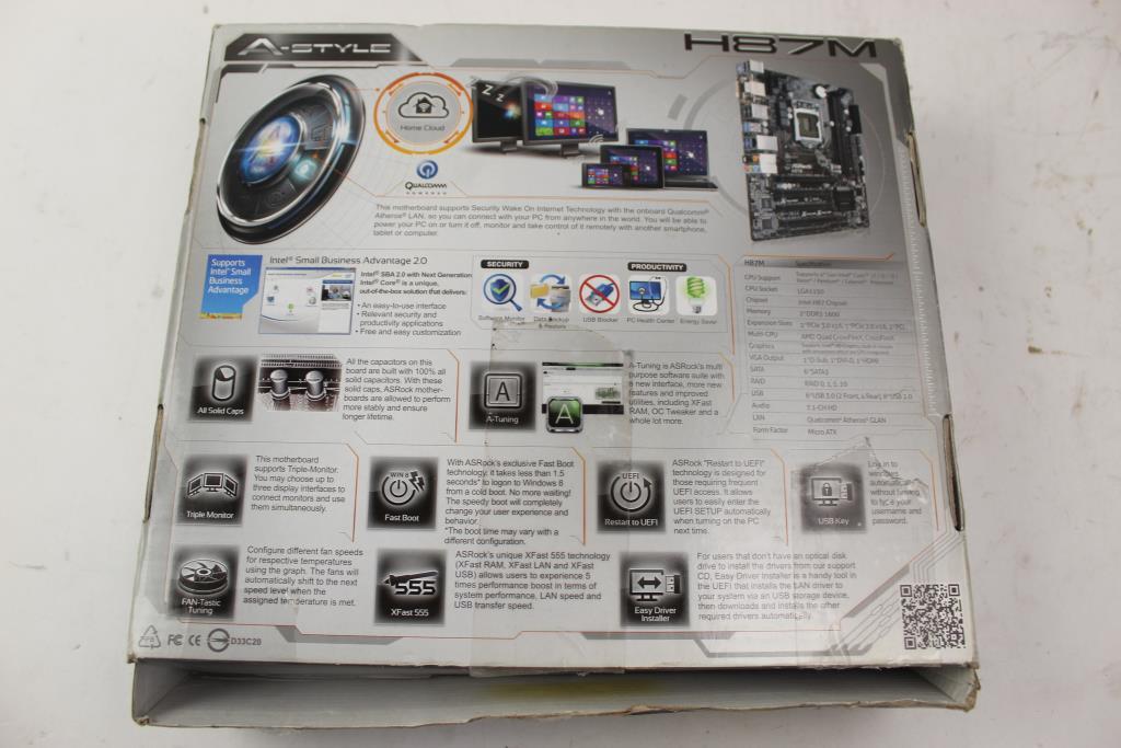 ASRock H87M Intel LGA 1150 Micro-ATX Motherboard | Property Room