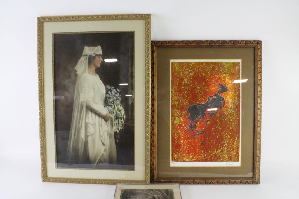 Assorted Artwork In Frames, 3 Pieces   Property Room