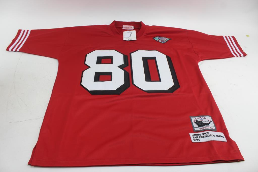 finest selection 8da00 08af5 Autographed San Francisco 49ers #80 Jerry Rice Throwbacks ...