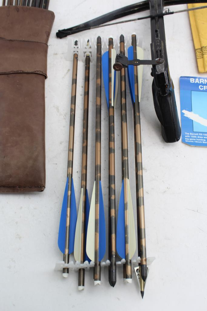 Barnett Trident Hand Crossbow And Arrows Property Room