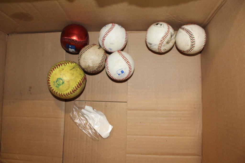 Baseballs, Baseball Glove, Bucket, 20+ Pieces | Property Room