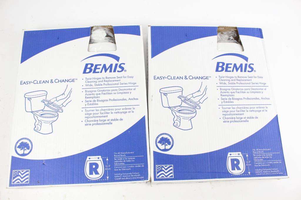 Bemis Easy Clean & Change Toilet Seats, 2 Pieces | Property Room