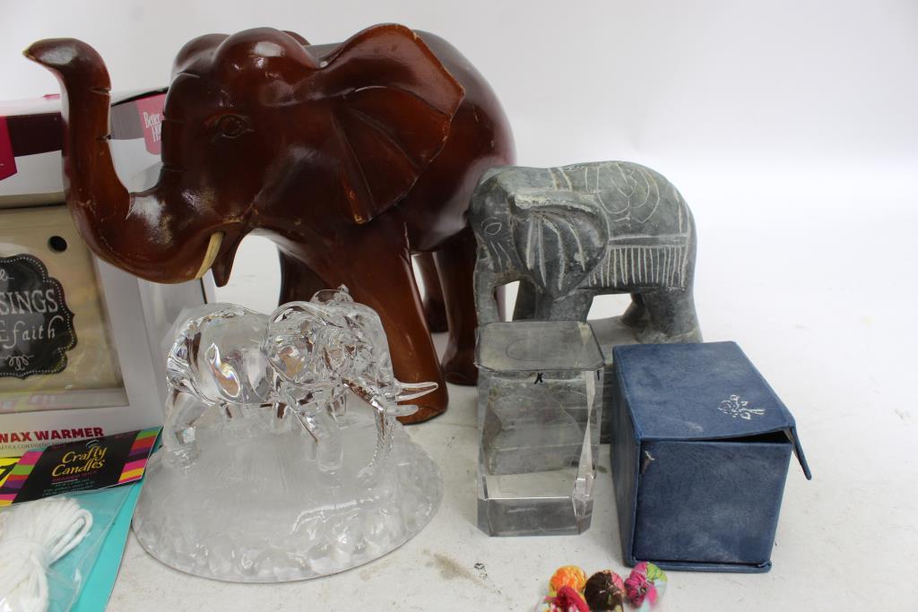 Better Holmesu0026Garden Wax Warmer, Pier1 Table Runners, Elephant Sculptures  Unknown Brand+ More