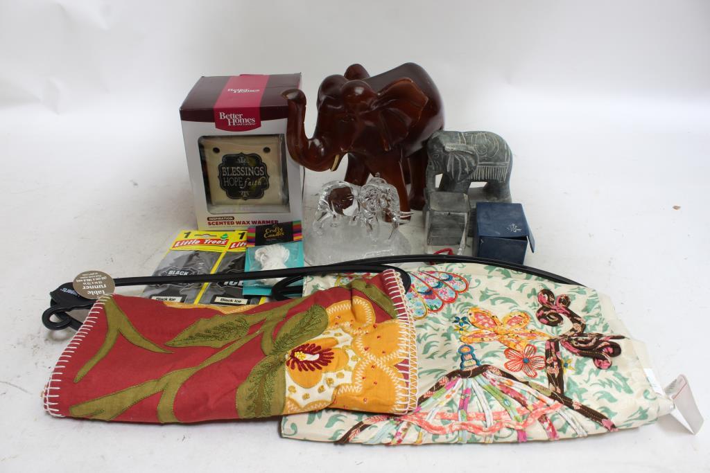 Image 1 Of 5. Better Holmesu0026Garden Wax Warmer, Pier1 Table Runners, Elephant  ...