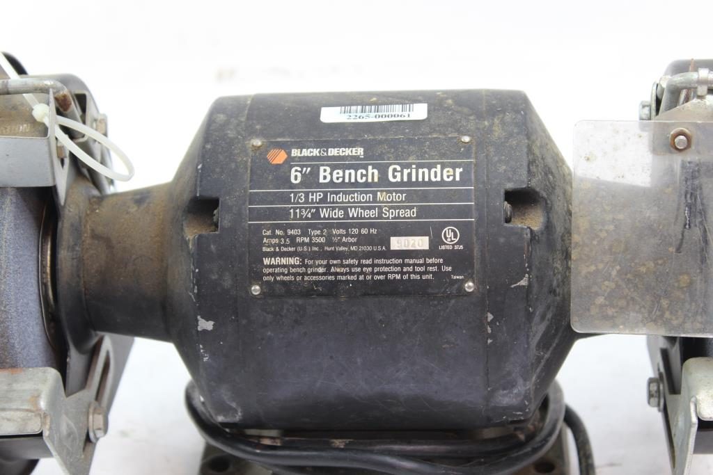 Black And Decker 6 Bench Grinder Property Room