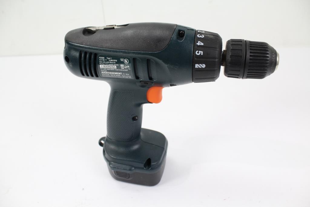 black decker 12v cordless drill ps3500 property room. Black Bedroom Furniture Sets. Home Design Ideas