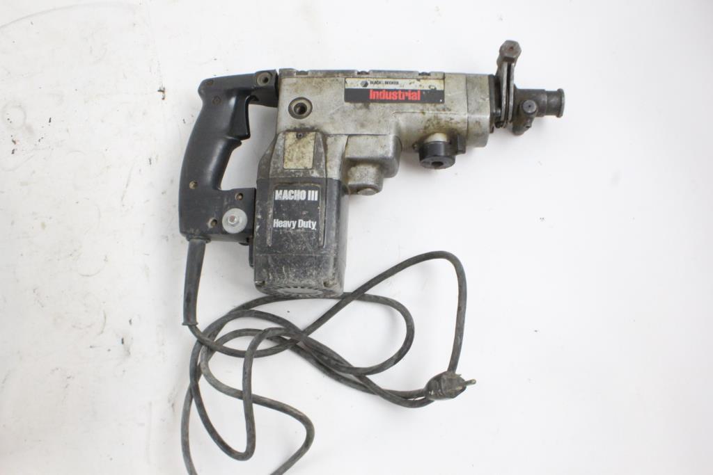 Black Amp Decker Macho Iii Hammer Drill Property Room