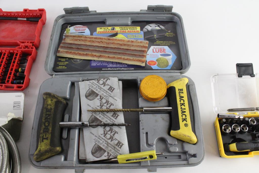 Black Jack Tire Repair Kit Milwaukee Drill Bit Set And More 4