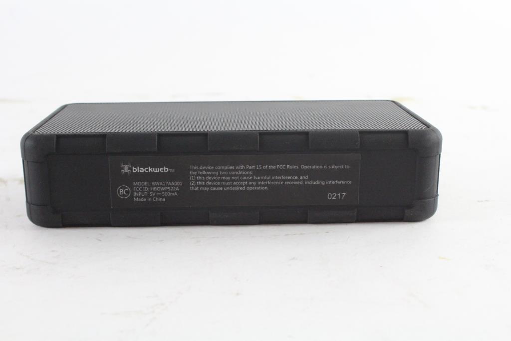 BlackWeb Portable Bluetooth Speaker   Property Room