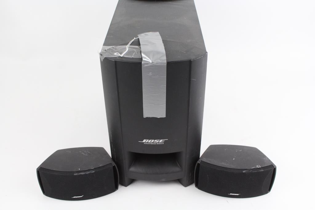 Bose Car Speakers >> Bose Acoustimass Module With Two Speakers 3 Pieces | Property Room