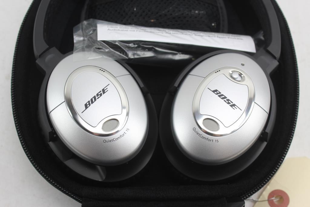 8f12ed79eaa Bose QuietComfort 15 Acoustic Noise Cancelling Headphones QC-15 ...