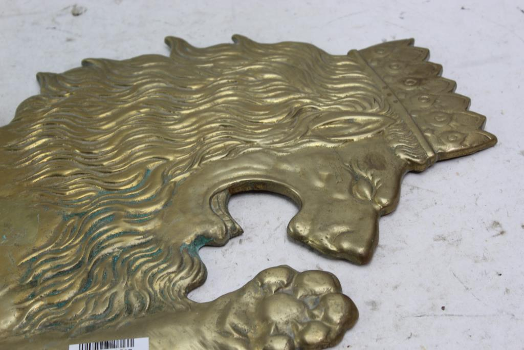 Brass Lion Wall Decor Property Room