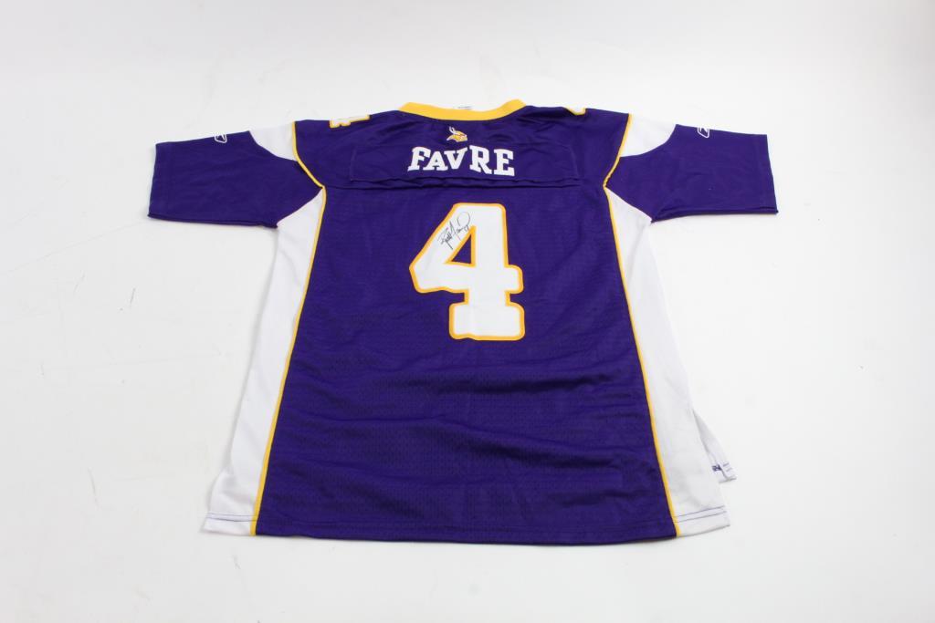 buy online f7521 8fc37 Brett Favre Autographed Minnesota Vikings Jersey | Property Room
