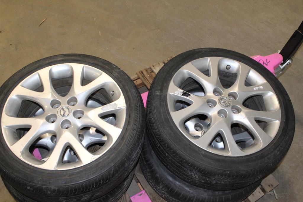 Bridgestone Goodyear And Kumho 235 45r18 Tires On Mazda