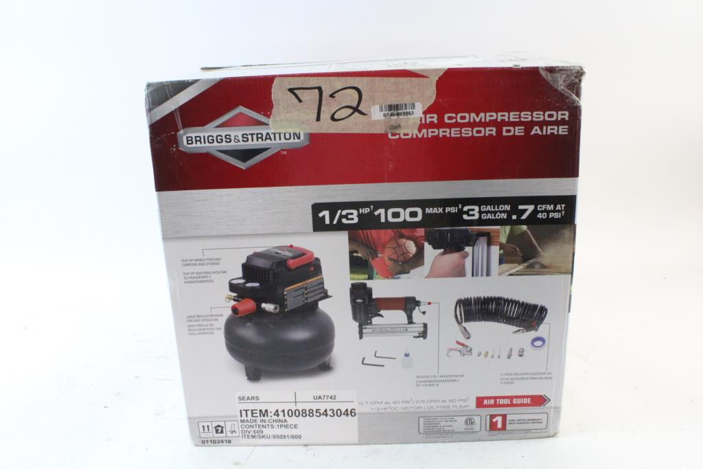 An Image Relevant To This Listing Briggs Stratton 3 Gallon Air Compressor