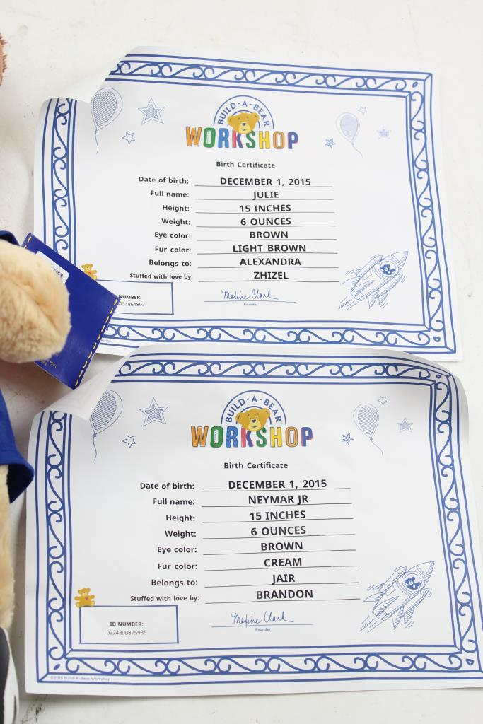 Build A Bear Stuffed Animals Fully Clothed 2 Pieces Property Room