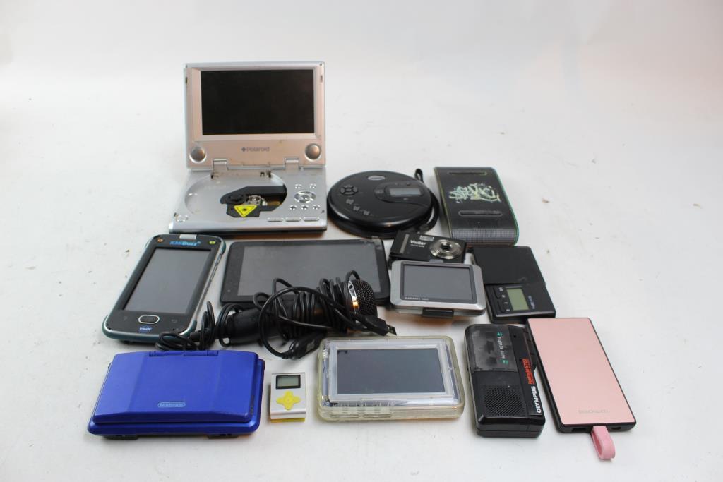 Camera, Garmin Gps, Olympus Recorder, Nintendo Ds, Tablets