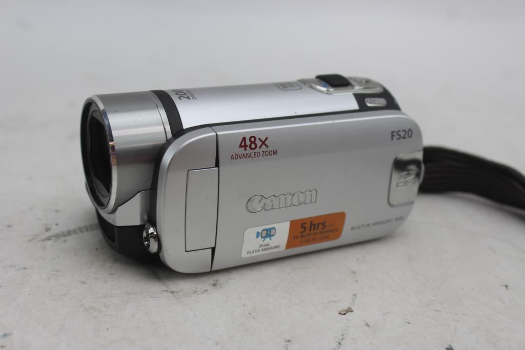 canon fs20 digital video camcorder property room rh propertyroom com Canon FS20 Camcorder canon fs20 user manual