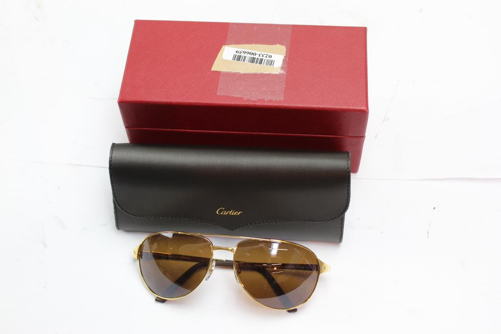 d7b93ee6756 Cartier Edition Santos-Dumont Men s Sunglasses