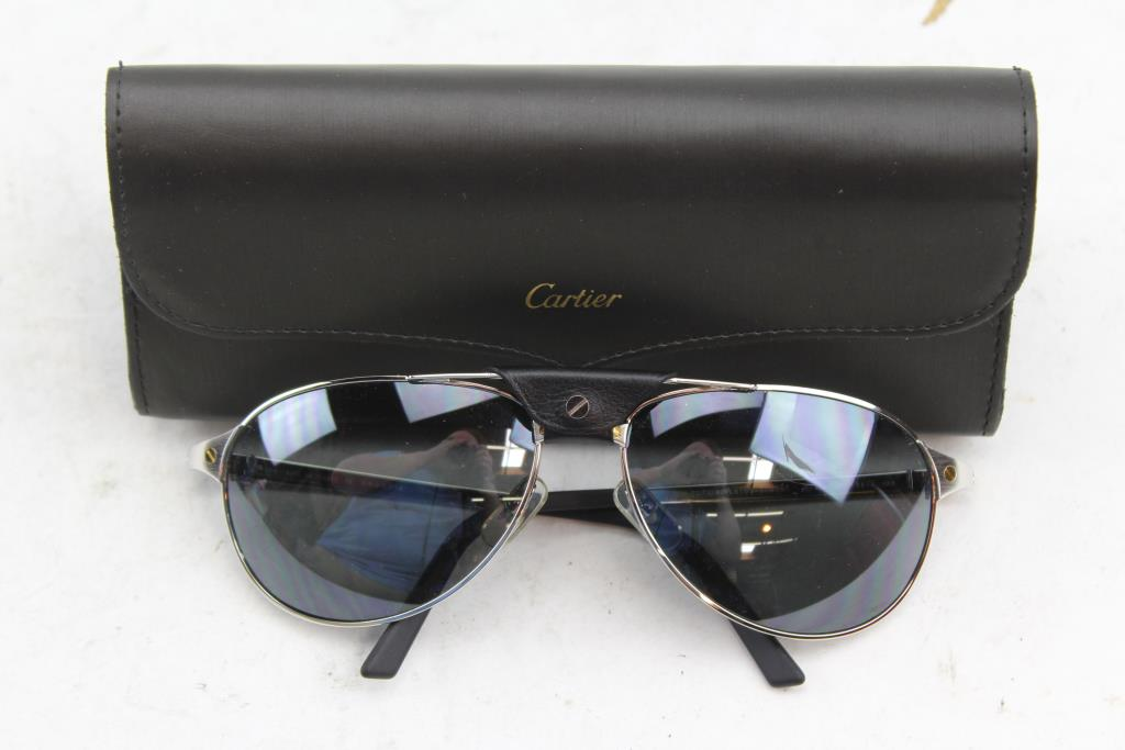 583786824ac Image 1 of 3. Cartier Edition Santos-Dumont Sunglasses