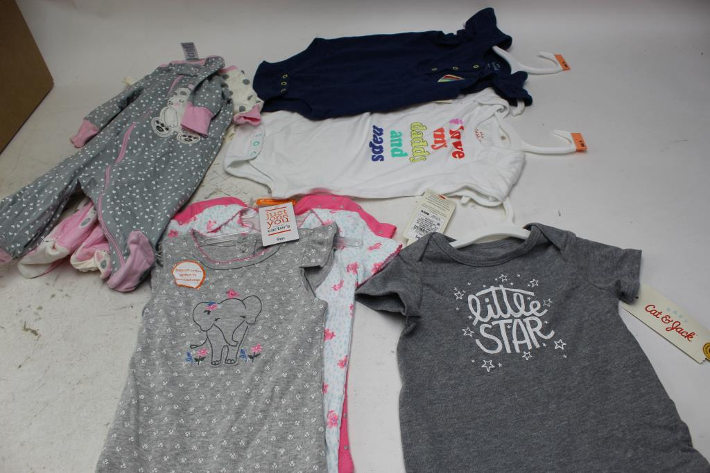 Cat And Jack Carters Infant Girl Clothing Size Nb 6 9m 7 Pieces
