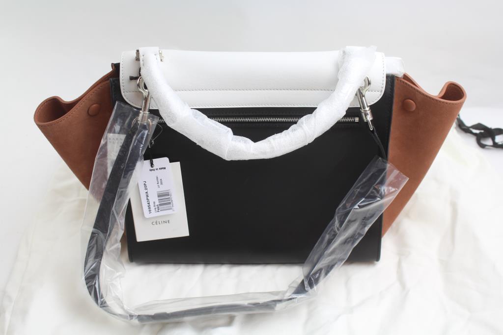 d51ef896bdba Celine Medium Trapeze Bag In Tricolor Smooth Calfskin