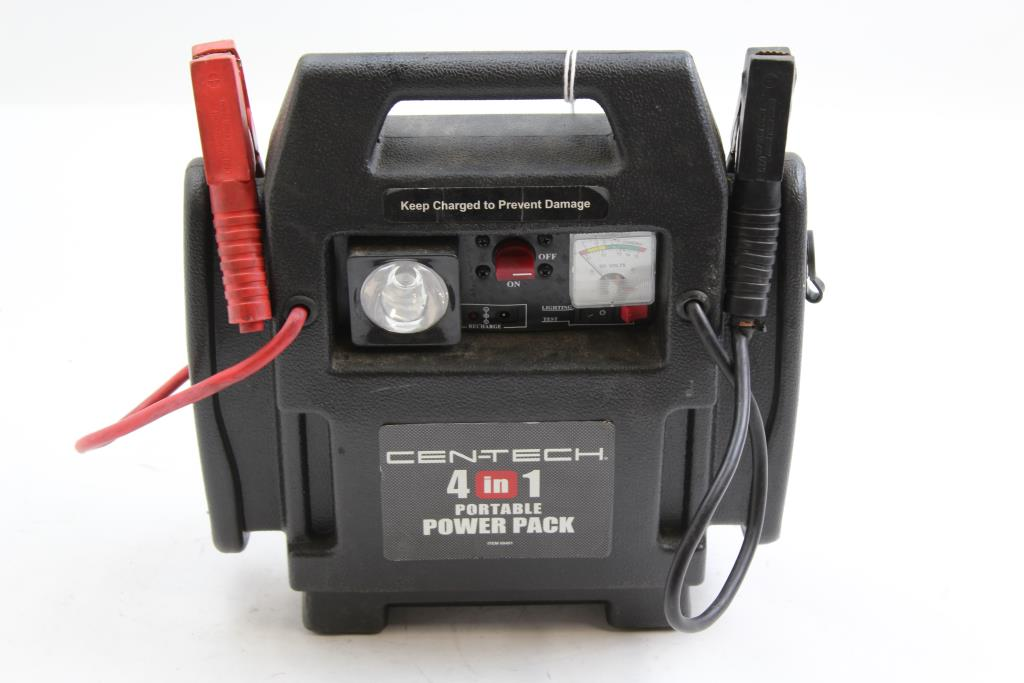 Cen-Tech #69401 4 In 1 Portable Power Pack Jumper Box | Property Room