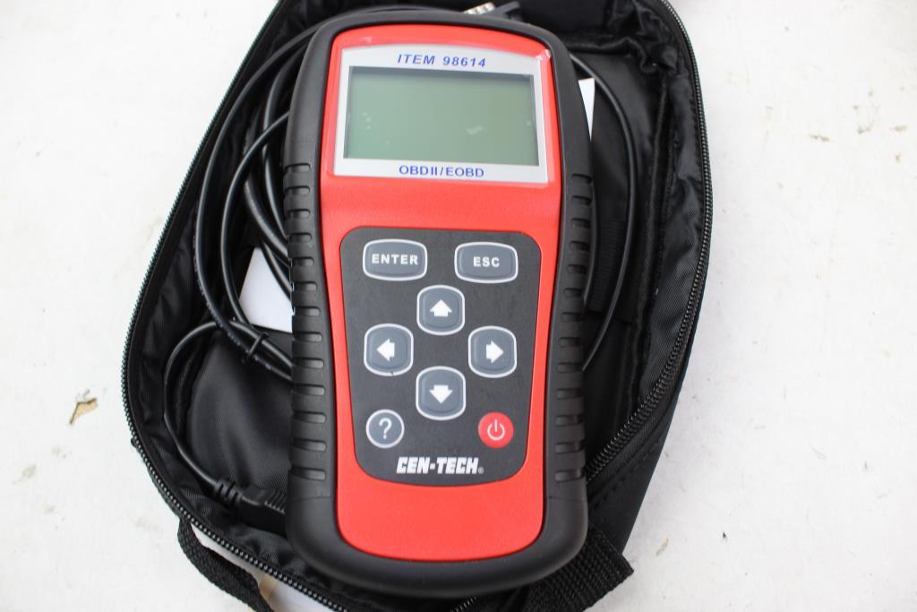 Cen-Tech CAN OBDII Code Reader/ EOBD Scanner Model 98614   Property Room