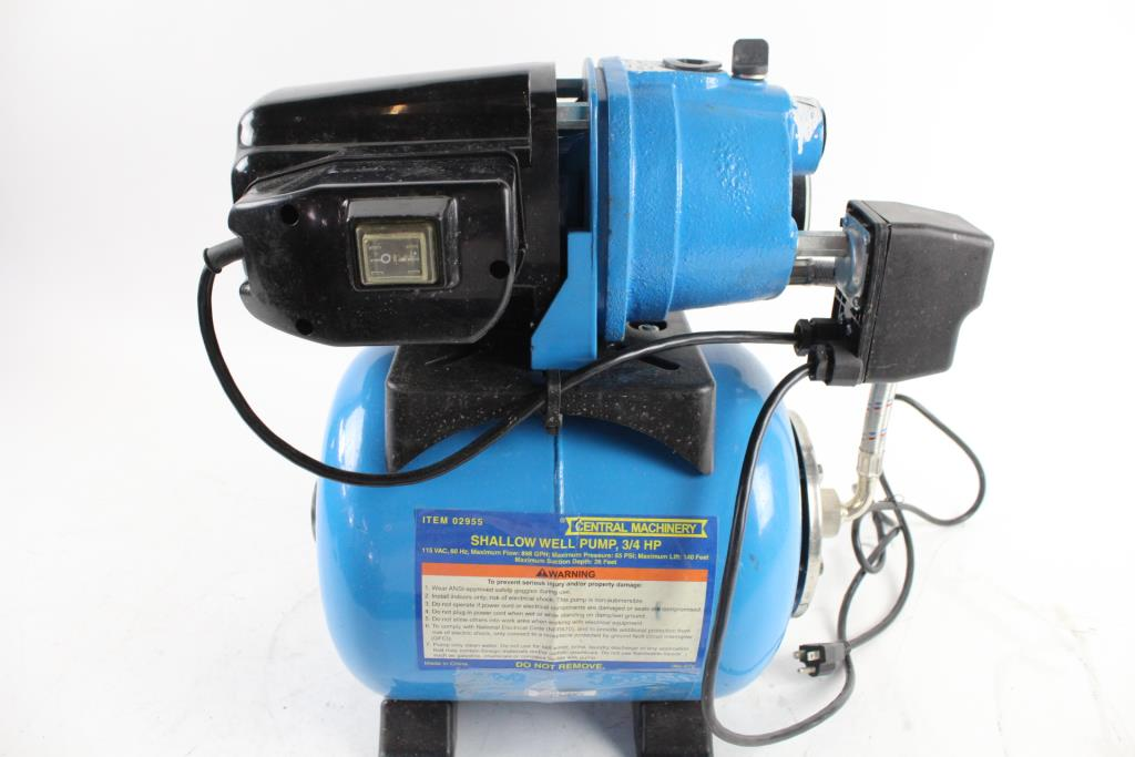 Central Machinery Shallow Well Pump, 3/4 HP | Property Room