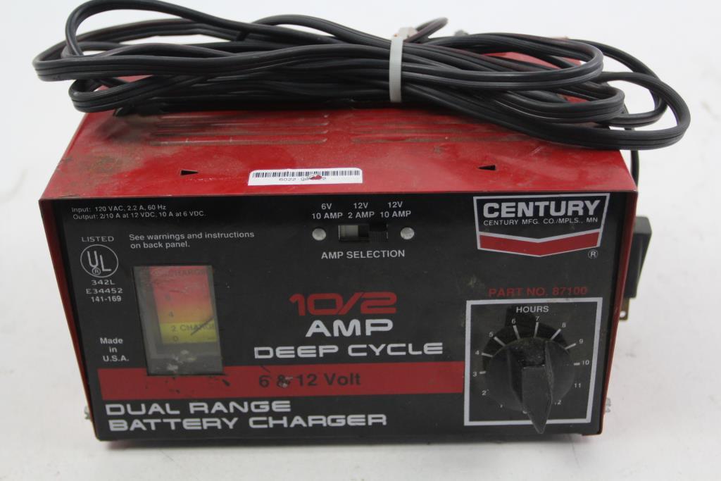 Century 87100 6 12 Volt Dual Range Battery Charger