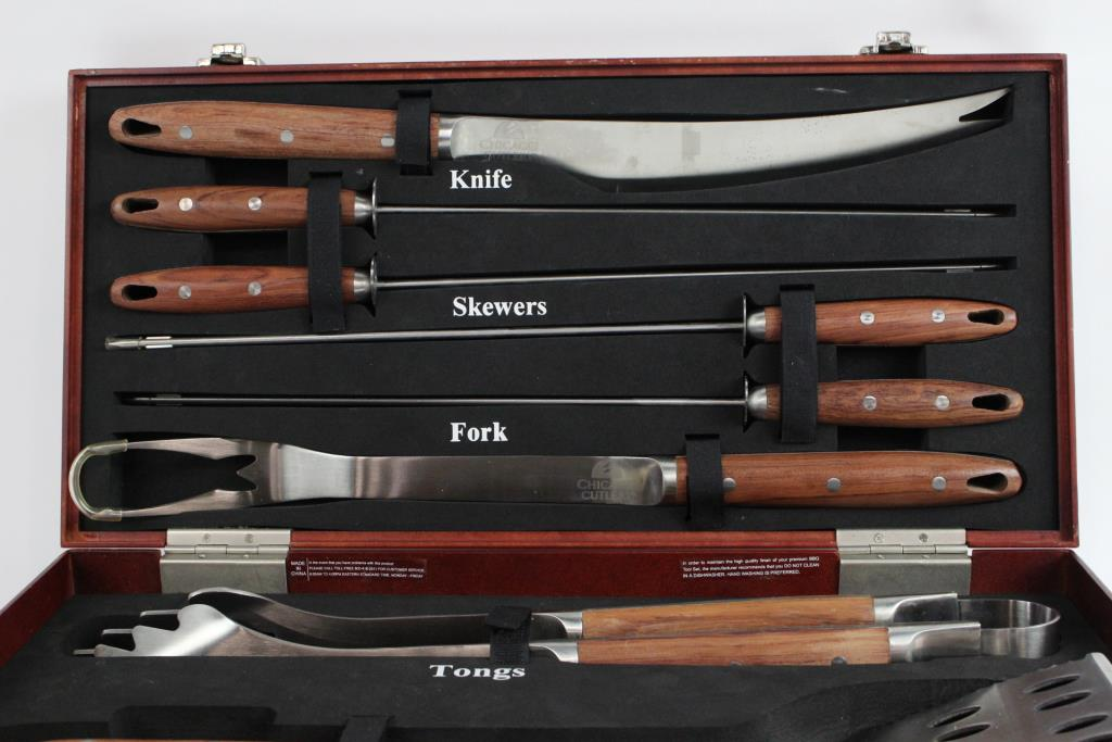 Chicago Car Auction >> Chicago Cutlery BBQ Grill 8 Piece Set | Property Room