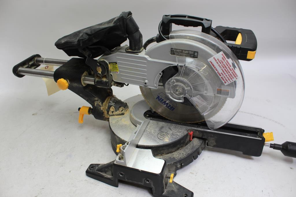 """Chicago Electric 10"""" Sliding Compound Miter Saw 