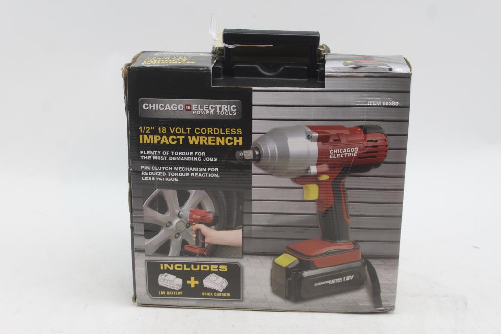 Image 1 Of 2 Chicago Electric 18v Cordless Impact Wrench
