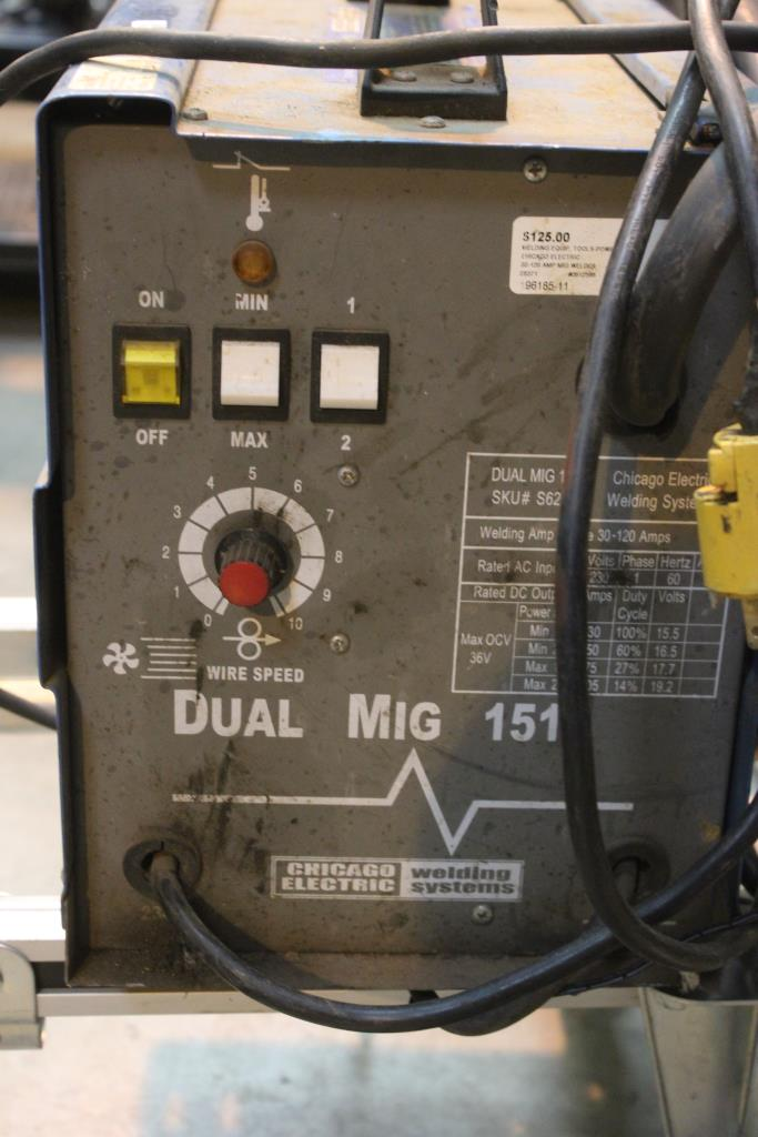 Chicago electric Dual Mig welder 151 manual