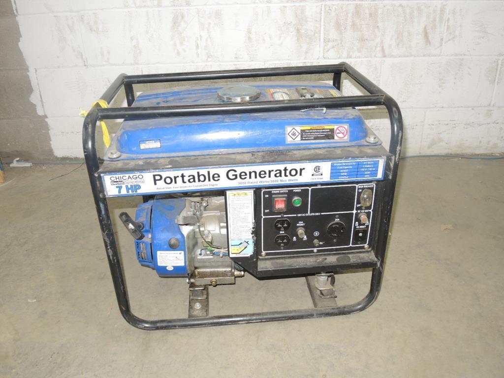 Chicago Electric Generators 7hp Portable Generator Property Room