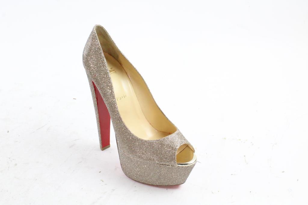 74418c791d6 ... silver sparkle glitter fifille 110 pumps heels b36c3 caa8e usa christian  louboutin womens right shoe size 41 a662b 6abc1 ...