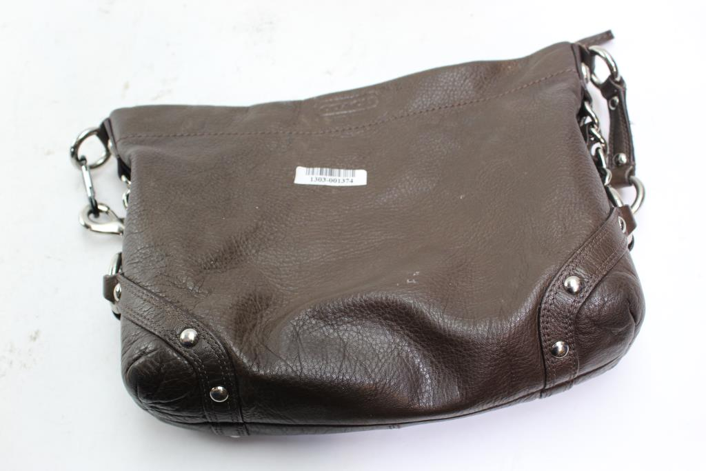 1196dbced4 Coach Brown Leather Hobo Bag No. F1073-F15251   Property Room