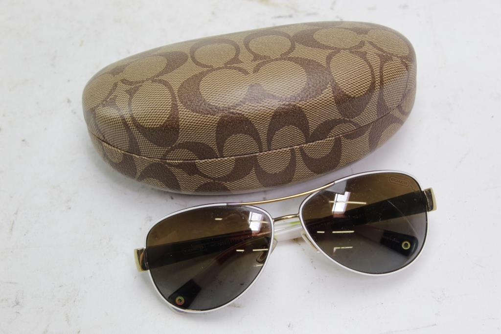 d8652e4d26 Image 1 of 3. Coach Kristina Women s Aviator Sunglasses