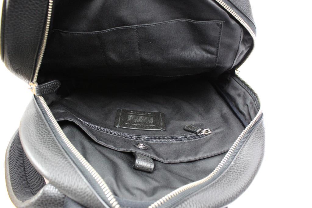 f9756b28cfe5e Coach New York Mens Hamilton Pebble Leather Backpack