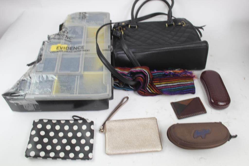 Coach Wristlet, Guess Glasses, Handbag, Make Up Bags And