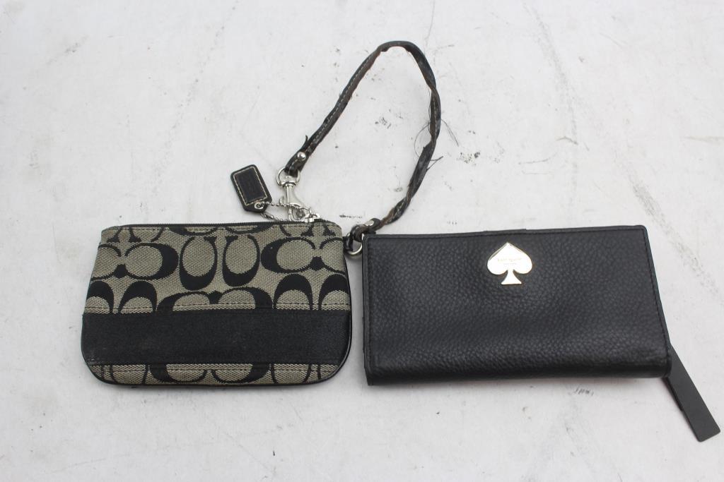 Coach Zipper Wallet Purse And Kate Spade 2 Items