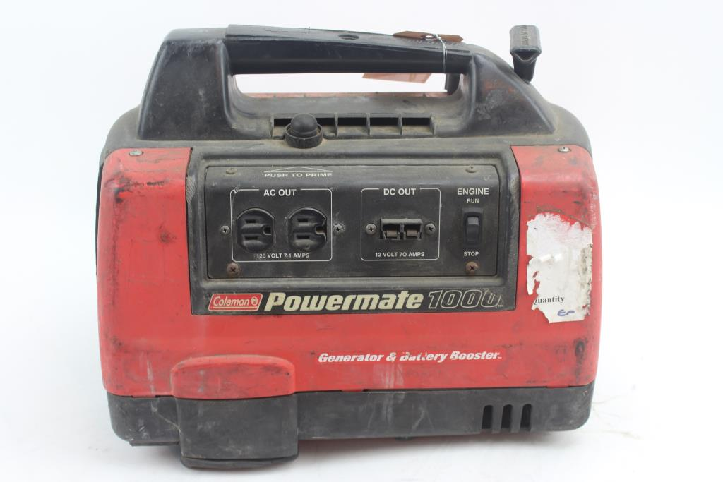coleman powermate 1000 gas powered portable generator and battery rh propertyroom com coleman powermate 1000 generator parts coleman powermate 1000 generator parts